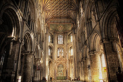 Photograph - Peterborough Cathedral by Fiona Messenger