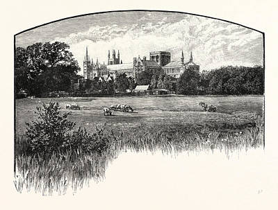 St Paul Drawing - Peterborough Cathedral, Properly The Cathedral Church Of St by English School