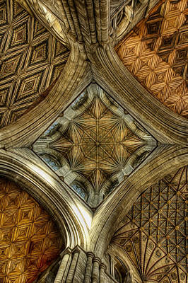 Photograph - Peterborough Cathedral Roof by Fiona Messenger
