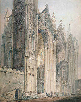 Peterborough Cathedral Art Print by Thomas Girtin