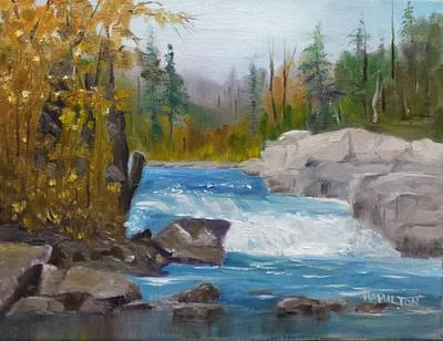 Painting - Peterborough Falls by Larry Hamilton