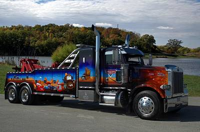 Photograph - Marvins Big Rig Cars Movie Tribute Tow Truck by Tim McCullough