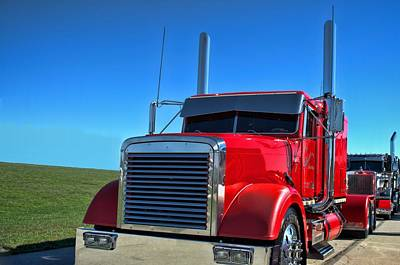 Photograph - Peterbuilt Semi Truck  by Tim McCullough