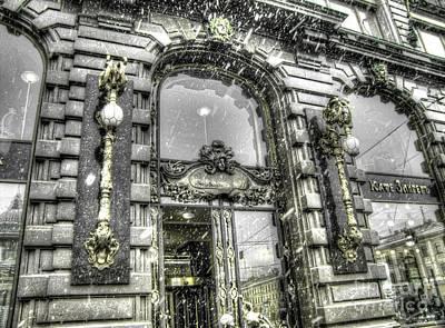 The Church Mixed Media - Peterburg Winter Street by Yury Bashkin