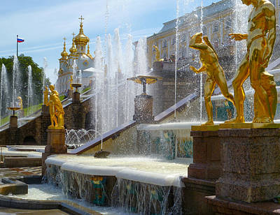 Photograph - Peterhof Palace Fountains by David Nichols
