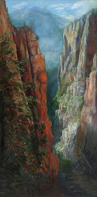 Grand Canyon Of Arizona Painting - Peter's Grand Canyon by Florine Duffield