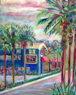 Painting - Pete's Bar In Neptune Beach by Patricia Taylor