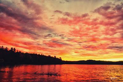 Photograph - Pete's Lake Sunrise by Peg Runyan