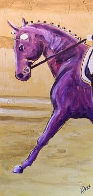 Sporthorse Painting - Peteta In Purple by Amanda Pierce