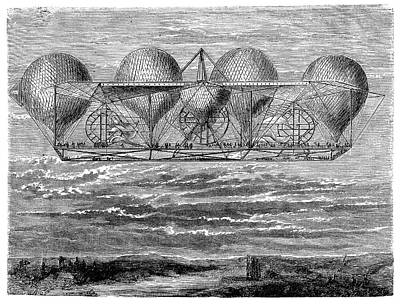 1850s Photograph - Petin's Planned Aerostat by Science Photo Library
