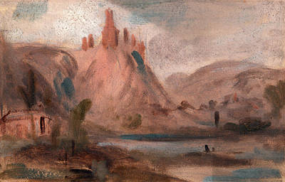 Petit Andeleys On The Seine Landscape With A Castle Art Print by Litz Collection