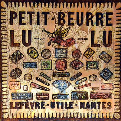 Butter Molds Photograph - Petit- Beurre Lu Lu by Lauren Leigh Hunter Fine Art Photography