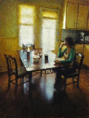 Quebec Painting - Petit Dejeuner A Ste Emelie by Nicolas Martin