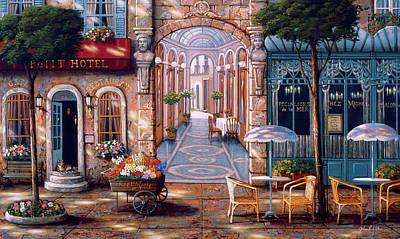 Painting - Petit Hotel by John P. O'brien