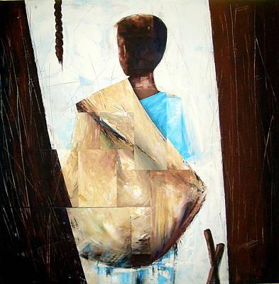 Painting - Petit Vendeur by Laurend Doumba