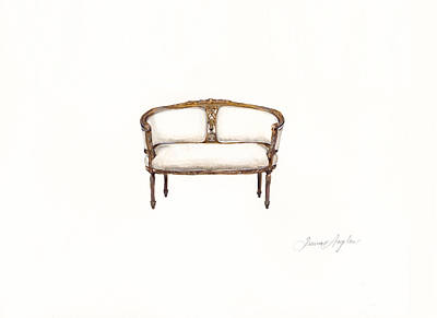 Painting - Petite Loveseat  by Jazmin Angeles