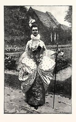 Petite Marquise Au Xviie Art Print by English School