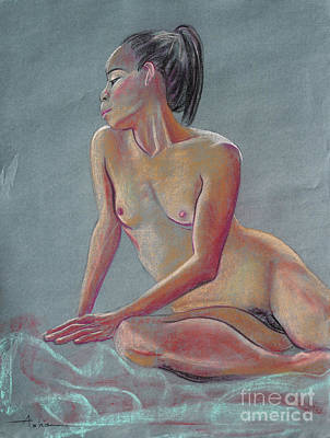 Pastel - Petite Woman With A Ponytail by Asha Carolyn Young
