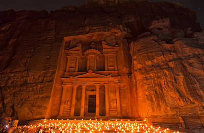 Petra By Night Original by Yves Gagnon