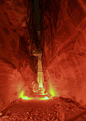 Treasury Photograph - Petra Night Journey by Stephen Stookey