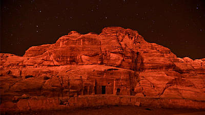 Treasury Photograph - Petra Nights by Stephen Stookey