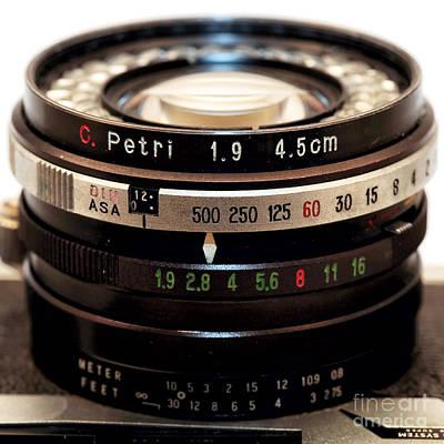 Photograph - Petri 1.9 Lens by John Rizzuto
