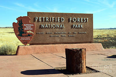 Photograph - Petrified Forest National Park Entrance Sign by Shawn O'Brien