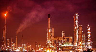 Petrochemical Oil Refinery Plant  Art Print
