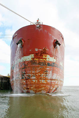 Tanker Wall Art - Photograph - Petrochemical Tanker by Graeme Ewens/science Photo Library