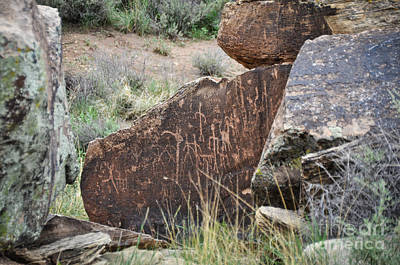 Photograph - Petroglyph Art by Cheryl McClure