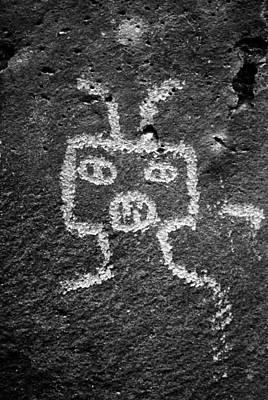 Photograph - Petroglyph Art V A.k.a. Robot Alien by Daniel Woodrum