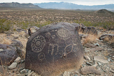 Three Rivers Photograph - Petroglyph At The Three Rivers by Larry Ditto