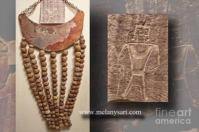 Jewelry - Petroglyph Inspired Chest Piece by Melany Sarafis
