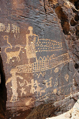 555p Petroglyph - Nine Mile Canyon Art Print