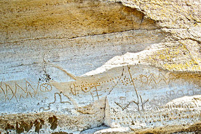 Petroglyphs At Petroglyph Point In Lava Beds Nmon-ca Art Print