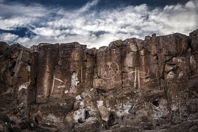 Petroglyphs Art Print by Cat Connor