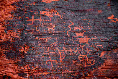 Photograph - Petroglyphs by Gunter Nezhoda