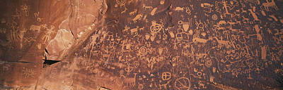 Petroglyphs On Newspaper Rock, Utah Art Print by Panoramic Images
