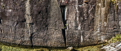 Petroglyphs On Rock At Sproat Lake Art Print