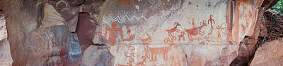 Petroglyphs On Rock, Palatki Ruins Art Print