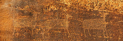 Ancient Civilization Photograph - Petroglyphs On Sandstone, Arches by Panoramic Images