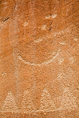 Native American Symbols Photograph - Petroglyphs On Sandstone by Jim West