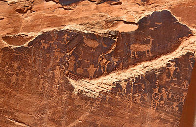 Photograph - Petroglyphs Or Rock Art In Utah by Jean Clark