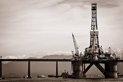 Photograph - Petroleum Platform by Celso Diniz