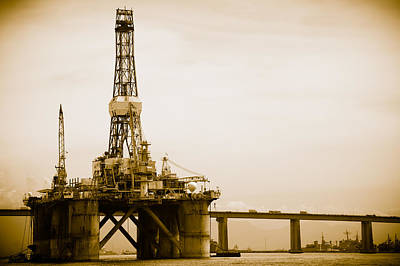 Photograph - Petroleum Platform On The Guanabara Bay by Celso Diniz