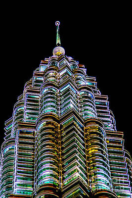 Twin Towers Photograph - Petronas Tower by Adrian Evans