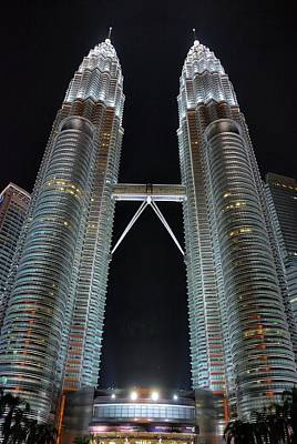 Photograph - Petronas Towers At Night by Steven Richman
