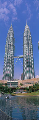 Twin Towers Photograph - Petronas Twin Towers, Kuala Lumpur by Panoramic Images