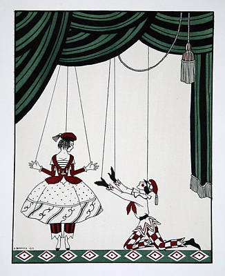 Entertain Painting - Petroushka by Georges Barbier