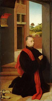 Petrus Christus, Portrait Of A Male Donor Art Print by Litz Collection